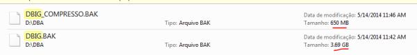 Dois backups. Um com compressão e o outro não.